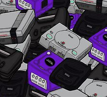 Videogame Console Pattern by Jazmine Phillips