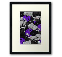 Videogame Console Pattern Framed Print