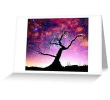Nature Galaxy Nebula Tree Greeting Card