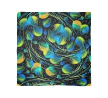 Seamless bright floral background in blue Scarf