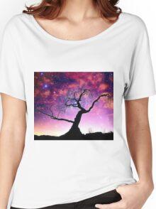Nature Galaxy Nebula Tree Women's Relaxed Fit T-Shirt