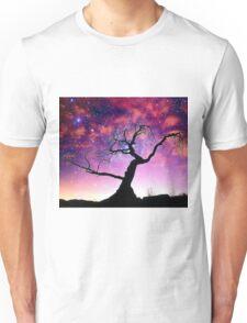 Nature Galaxy Nebula Tree Unisex T-Shirt