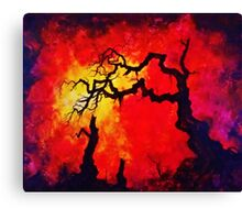 THE OLD WARRIOR Canvas Print