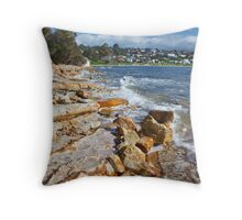 Blackmans Bay Beach Throw Pillow
