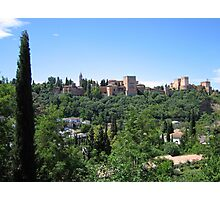 The Alhambra, Granada, Spain Photographic Print