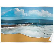 Seascape with Groyne Poster
