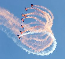 RAF Falcons Parachute Display Team by Colin  Williams Photography