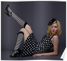 Black and White Blonde Poster