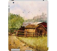 Down the Road - Impressionistic Rural Landscape Watercolor iPad Case/Skin
