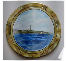 """Sailing past Scattery Island, Ireland"" - oil painting Poster"