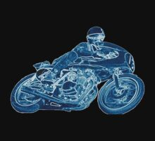 blue motorcycle by mariette sardin