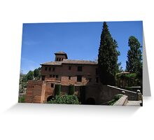Palace within the Alhambra, Granada, Spain Greeting Card