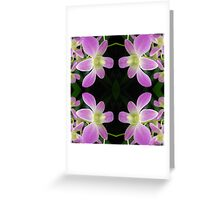 Purple Orchid Abstract Greeting Card