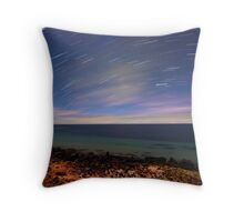 Star Trails at Point Turton Throw Pillow