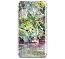 Abram's Creek - Impressionistic Watercolor Landscape iPhone Case/Skin