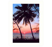 SUNSET,KEY BISCAYNE FLORIDA Art Print