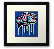 Graffiti covered fist Framed Print