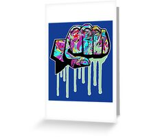 Graffiti covered fist Greeting Card