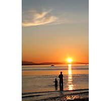 Father Son Fishing Day Photographic Print
