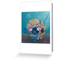 Eye Crustacea Greeting Card
