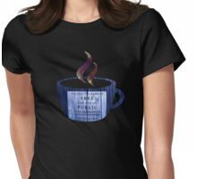 Tea with the Doctor Womens Fitted T-Shirt