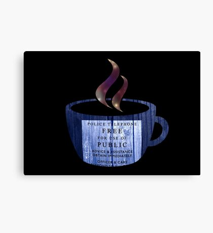 Tea with the Doctor Canvas Print