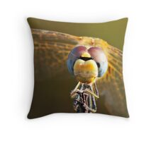 Macrophoto of a Dragonfly - France (Corsica) Throw Pillow
