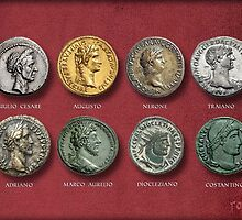 The coins minted by Roman emperors by romansart