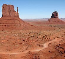 The Mittens, Utah, USA by Sue Leonard