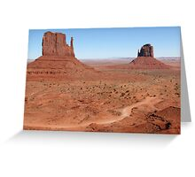 The Mittens, Utah, USA Greeting Card