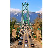 Lions Gate Bridge Photographic Print