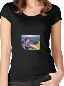 Canine Version of 'The Scream' Women's Fitted Scoop T-Shirt