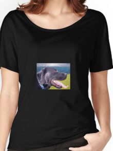 Canine Version of 'The Scream' Women's Relaxed Fit T-Shirt