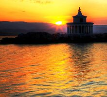 Lighthouse Of Saint Theodoroi At Sunset by Paul Thompson Photography