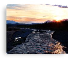 2:30 am Sunrise on Quill Creek Canvas Print