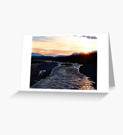 2:30 am Sunrise on Quill Creek Greeting Card