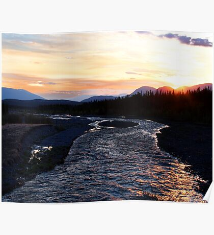 2:30 am Sunrise on Quill Creek Poster