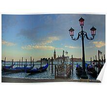 Sundown in Venice Poster
