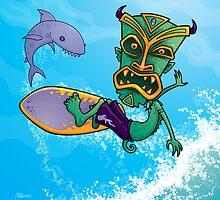 Tiki Surfer by fizzgig
