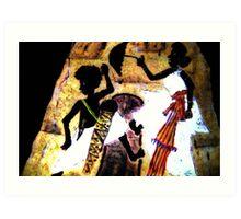 Dancing whit umbrella Art Print