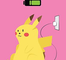 Pikachu Charging by octicalillusion