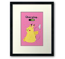 Pikachu Charging Framed Print