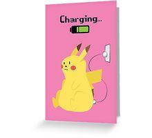 Pikachu Charging Greeting Card