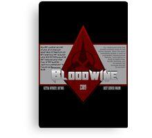 Bottle of Bloodwine Canvas Print