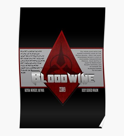 Bottle of Bloodwine Poster