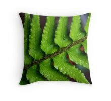 Vibrant Fern Throw Pillow