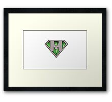 Minecraft Superman  Framed Print