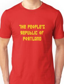The People's Republic of Portland (yellow letters) Unisex T-Shirt