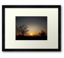 look west... Framed Print