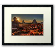 The Touch of Sunlight Framed Print